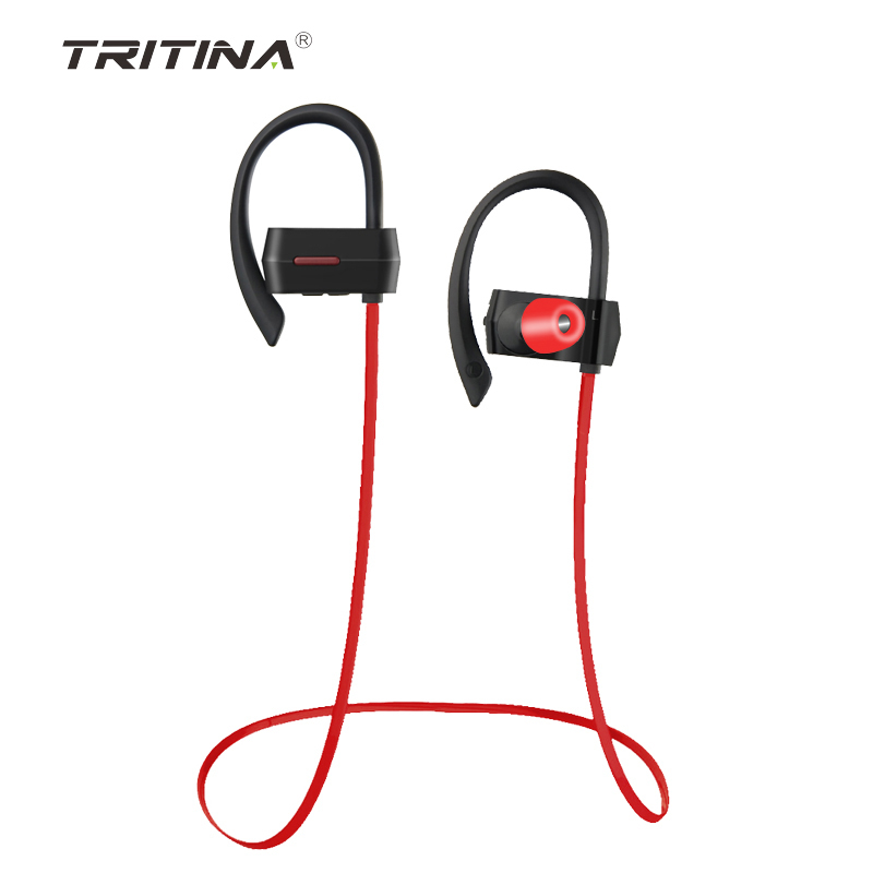 Tritina Wireless Headphones Microphone Bluetooth4.1,Stereo Sport Headphone Noise Cancelling with Memory Foam Earbuds Sweatproof <br>