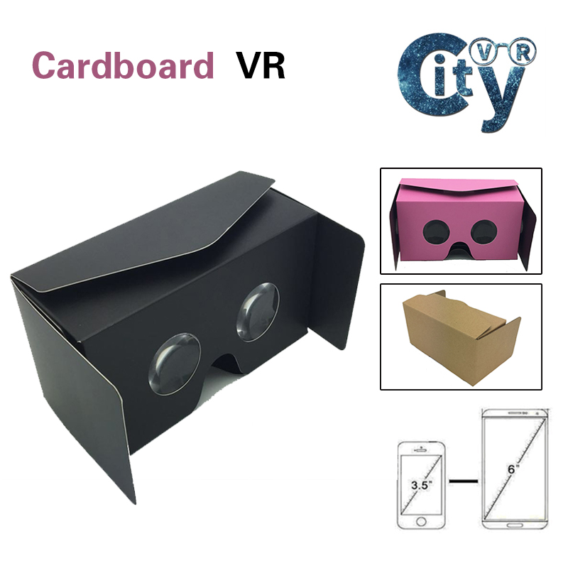 Virtual Reality Glasses Google Cardboard 3D Android IOS VR Glasses 42mm Lens VR Box most easily for Use with Movies and Games(China (Mainland))