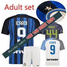 2017 2018 Inter Milan set jersey 17 18 Home Away football camisetas Thai AAA shirt survetement football Soccer jersey