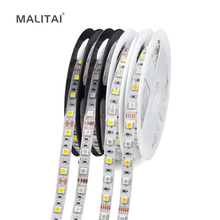 1Roll 5M 5050 LED Strip light Tape DC 12V RGB RGBW RGBWW Holiday Decoration lamp LED String Ribbon 60LEDs/M, Waterproof(China)
