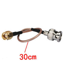 100PCS RG316 coaxial cable BNC male TO SMA male Cable 30CM