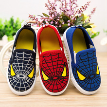 J Ghee 2017 Hot Sale Fashion Kids Shoes For Boys Girls Spiderman Children Sneakers Soft Breathable Boys Shoes Spider man Loafers(China)