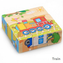 Children Wooden puzzle painting 3D Three-dimensional wooden baby educational toys Model Building Kits Develop intelligence