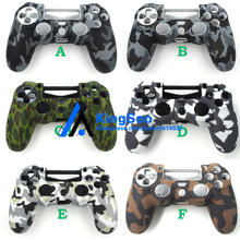 Decal Camo Camouflage Soft Silicone Case Protection Cover Rubber Protective Skin for Playstation 4 PS4 Pro Controller(China)
