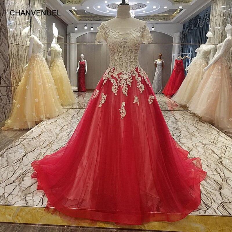 LS9905 последняя партия платья конструкции корсета Короткие рукава линия Красное Кружевное платье для выпускного вечера Vestido De Festa реальные фо...(China)