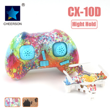Cheerson CX-10D CX10D Mini 2.4G 6-axis with High Hold Mode LED RC Mini Drones RTF(China)