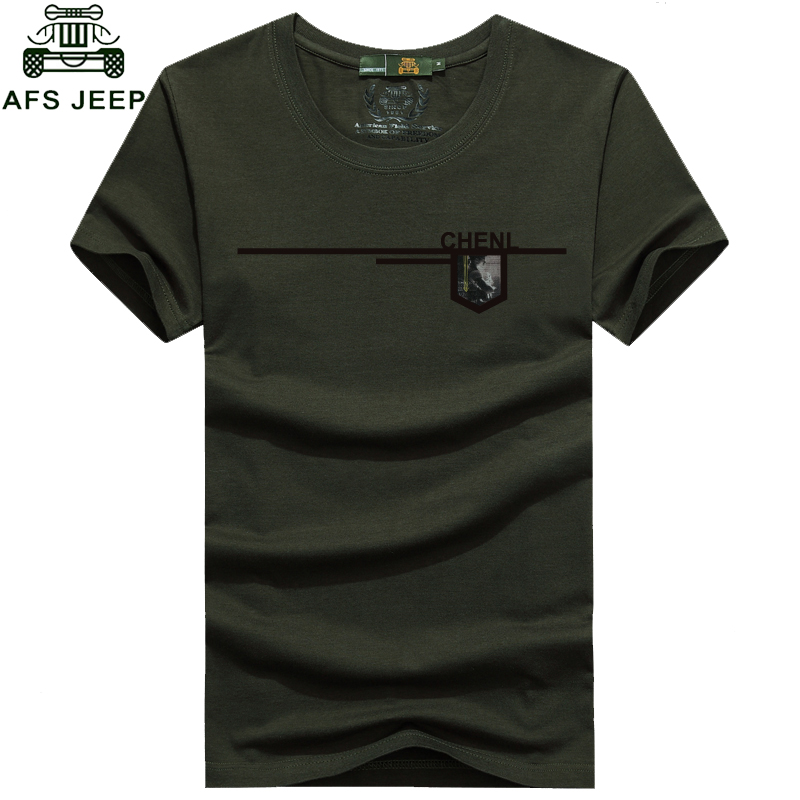 New Free shipping AFS JEEP T shirt Men o neck military style men's t-shirts plus size M-XXXL Z40xia(China (Mainland))