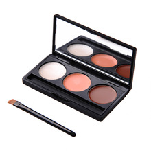 Pro 3 Colors/Set Concealer Contour Face Cream Concealer Palette Powder Foundation Makeup Beauty Cosmetic Concealer Cream Set(China)