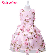 3-10 years Flower Girls Dress 2017 Summer Infant Girls Party Dresses For Girls Princess Birthday Dress Children Kids Clothes