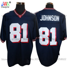 2017 Cheap American Football Jerseys Black Calvin Johnson 81 Sandy Creek High School Throwback jerseys Retro Stitched Shirts(China)