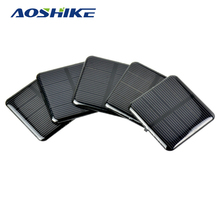 Aoshike 10pcs Epoxy Solar Panels 2V 160MA Monocrystalline Silicon Solar Cells DIY Solar 50*50mm(China)
