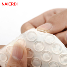 NAIERDI 100pcs Door Stopper Transparent Silicon Rubber Kitchen Cabinet Self-Adhesive Stop Damper Pad Furniture Hardware