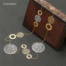 90 CM Opera Necklaces Gold Chain Classical Floral Pattern Women Copper Jewelry Long Necklace Vintage Collares largos