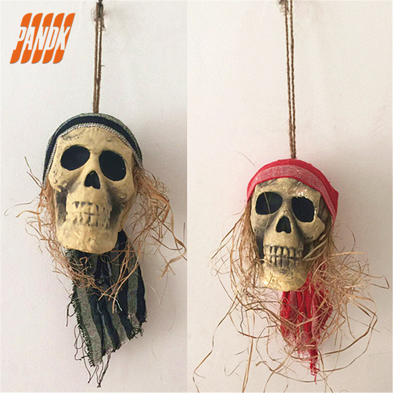 scary halloween skull decorations party spoof halloween skeleton ghost hanging props pendant bar free shipping - Halloween Skull Decorations