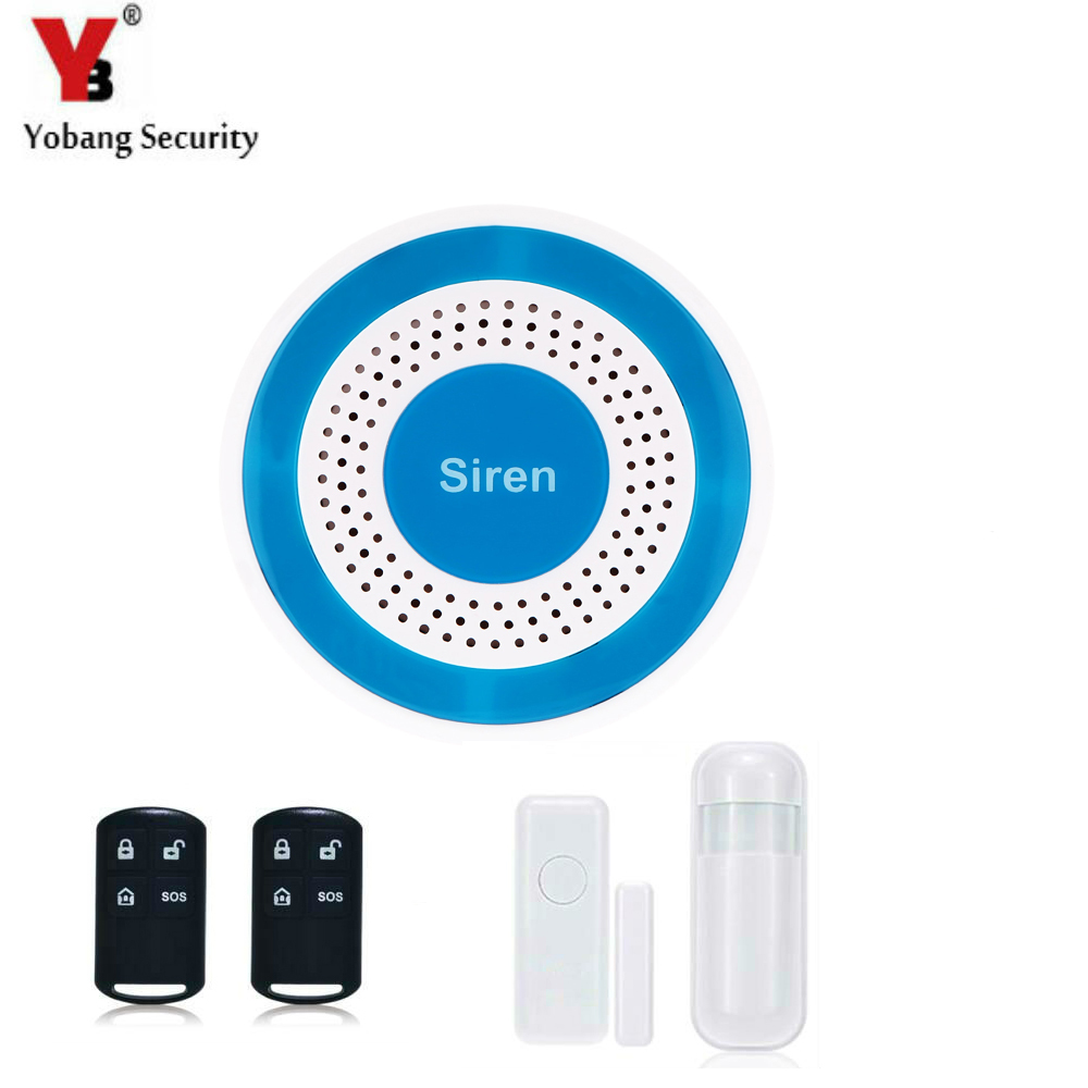 YobangSecurity Loudly Voice Wireless Home House Alarm Siren System Security Alarm System for Warehouse Garage<br>