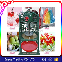 Manual Ice Shaver Hand Ice Chopper Ice Drink Blender Commercial Snow ice machine Home Use Block Shaving Machine(China)