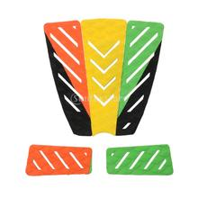 5 Piece Traction Tail Pad Deck Grip Mat Surf Surfing Surfboard Shortboard Longboard Skimboard Decor - Multicolor