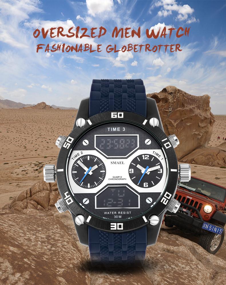 1 dual big watch men