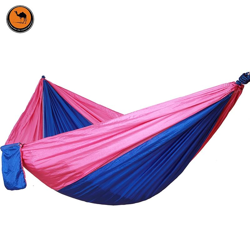Double-person Item Hammock Camping Survival Parachute Cloth Portable Folding Person Hammocks 260*140 CM<br>