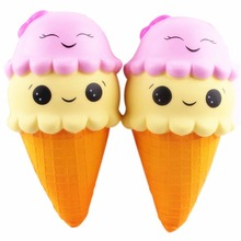 Cute Squishy Large Squishy Ice Cream Slow Rising Relieve Stress Toy Gift Kid Toy Doll Phone Strap 22*9.5cm