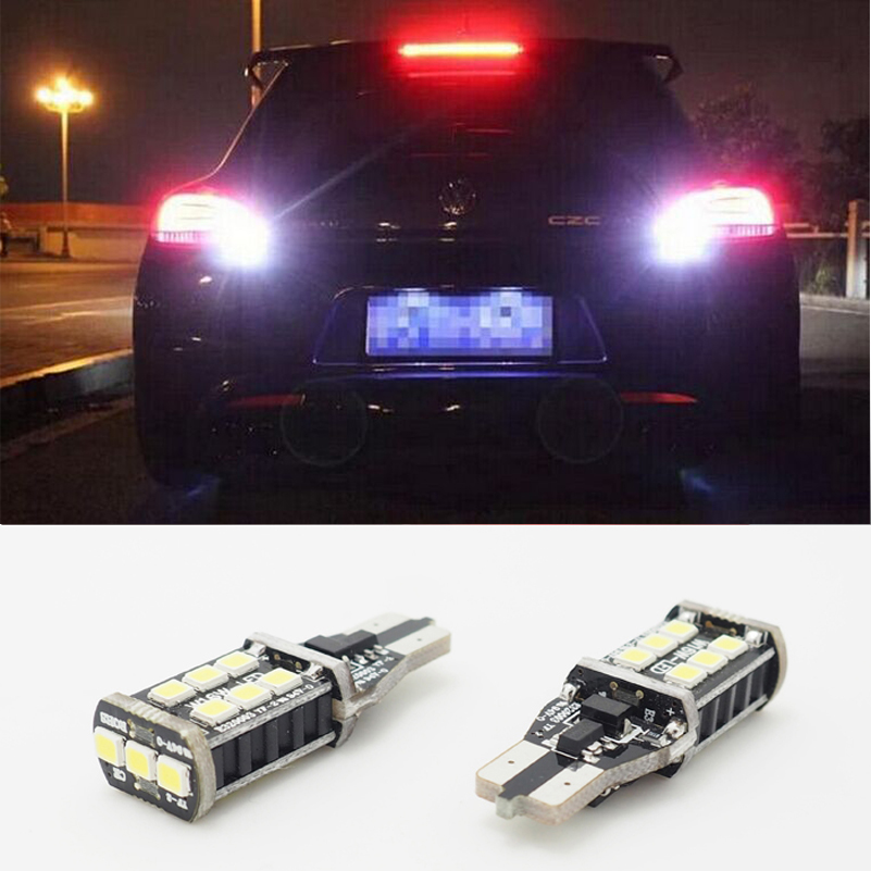 2x T15 W16W LED CANBUS 2835 Chip High Power Backup Reverse Light for VW Tiguan Sharan Scirocco Skoda Superb(China)