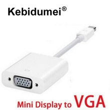 Kebidumei Thunderbolt Mini DisplayPort Display Port DP To VGA Adapter Cable for Apple MacBook Air Pro iMac Mac