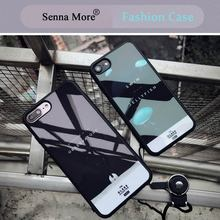 SM Carton Silicone Case For iphone 6 6s pLus 7 7plus Lovers Cases For Apple iPhone 7 PLUS Sweetheart Noctilucent 3D Jellyfish