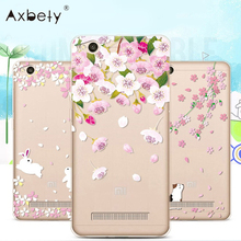 Fashion Soft TPU Case For Xiaomi Redmi 4A Case Floral Fairy Covers Transparent Silicone Cover For Xiaomi Redmi 4 A Redmi4A Case