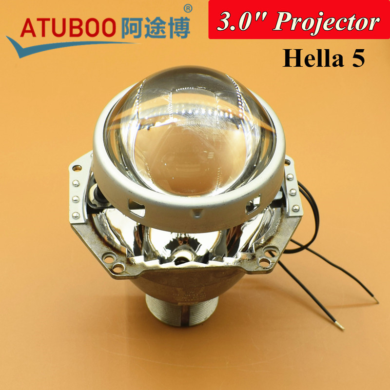 One Piece 3.0 Hella 5 Bi-xenon Projector lens for H4 Motorcycle Car Headlight Use D2H D2S Hid Xenon bulb<br>