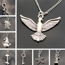 Fashion Pendants Necklace Chain Women Jewelry Accessories Retro Key Snake Birds Collares Collier One Direction Christmas Gift(China)