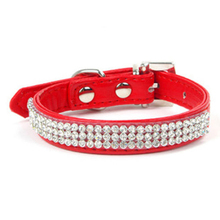 1PCS Bling Rhinestone Dog Collar Rhinestone Buckle Small Dog Collar 1 Size& 5 Color For Pet Collar Animals