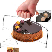 Baking Pastry Tools Adjustable Wire Cake Slicer Leveler Stainless Steel Slice for Layer Cakes Best Price ZX078