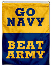 Go Navy Beat Army House College Large Outdoor Flag 3ft x 5ft Football Hockey College USA Flag(China)