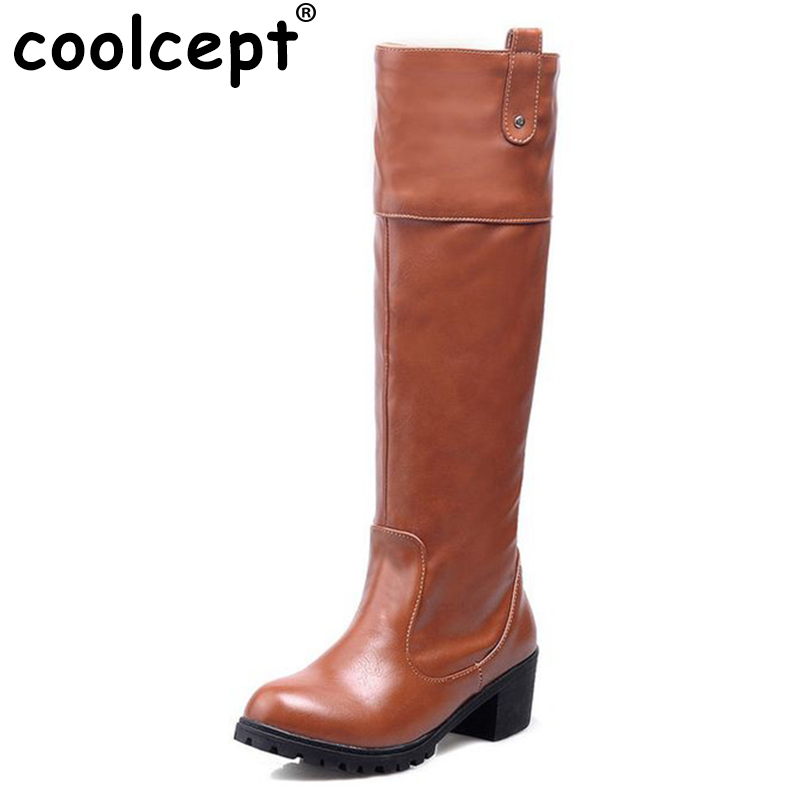women flat over knee boots equestrian winter warm snow botas round toe fashion masculina boot footwear shoes P20067 size 34-39<br>
