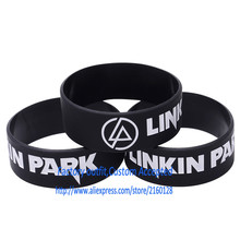 Wholesale 30PCS/Lot LINKIN PARK  Silicone bracelet 1 inch Silicone wrist band BRACELET Rock gift Custom Accepted