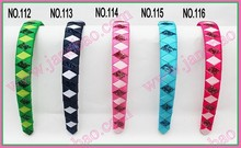 free freight 185pcs 3/4'' Ribbon Woven Headband braid headbands ribbon wraped headbands
