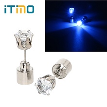 ITimo Novelty Lighting Funny 1 Pair Flashing Blinking New LED Earrings Light Ear Nail Stud Lamp