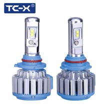 TC-X LED Front Headlights HB3 9005 HB4 9006 Automotive Bulb Conversion Kit 7000lm Driving Foglight Auto LED Light Replacing Lamp