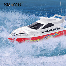 Buy Kidome C101A High Speed RC Boat Mini 35Hz 4 Channels Remote Control Racing Speedboat Boat Kids Toys Children Boys Birthday Gift for $11.68 in AliExpress store