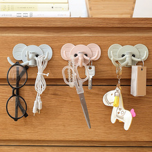 2 Pcs Elephant Shaped Creative Hanger Rack Decorative Hanging Storage Holder Wall Hook Kitchen Organizer Bathroom Accessories(China)