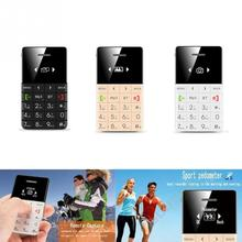 Personality Ultra Thin Slim 1.0inch Anti-scratch LCD Q5 Mini Card Cell Phone Mobile phone with Anti-lost Reminder Function