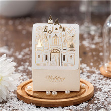 20pcs/lot Sweet Castle Favors and GIfts Wedding Decoration Laser Cut Originality Paper Candy Box For Guests Event&Party Supplies(China)