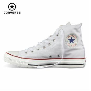 Original Converse All star de los hombres de las mujeres zapatillas de deporte zapatos de lona que todo negro clásico de alta Skateboarding Shoes envío gratis