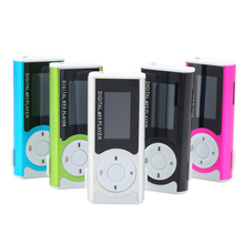 New Arrival Unique Mini USB Clip MP3 Media Player LCD Screen Support 16GB Micro SD TF LED Light DX Speler 5WHM 91G7