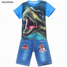 SAILEROAD 3-9Years Old Children Kids Shorts Clothing Sets Summer Cartoon Baby Boys Outfits Clothes T Shirts And Pants Suits(China)