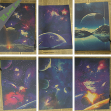 Star galaxy kraft retro paper posters universe galaxy moon earth Galaxy solar system Nine planets vintage poster home Decoration