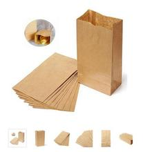 Hoomall Natural Kraft Paper Bag For Gifts Crafts Wedding Party Favor Candy Tea Bag Envelope Gift Wrap 20PCs 15.5x10x30cm