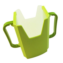 FJS-Baby Child Universal Juice Pouch Milk Box Holder Cup Toddler Self-Helper green(China)