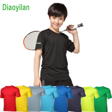child Running tennis T Shirts Active Short Sleeves Quick Dry Training Jersey Sports Clothing kids Basketball Soccer t-shirt