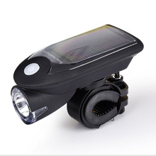 MOREZONE Solar Bike Lights LED Bicycle Front Head Light USB Rechargeable Headlight Cycling Rear Tail Lamp Light